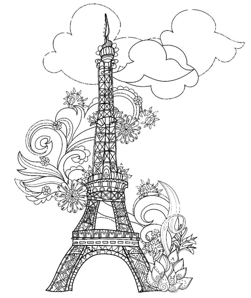 Ausmalbilder Paris  Malvorlagen kostenlos zum Ausdrucken