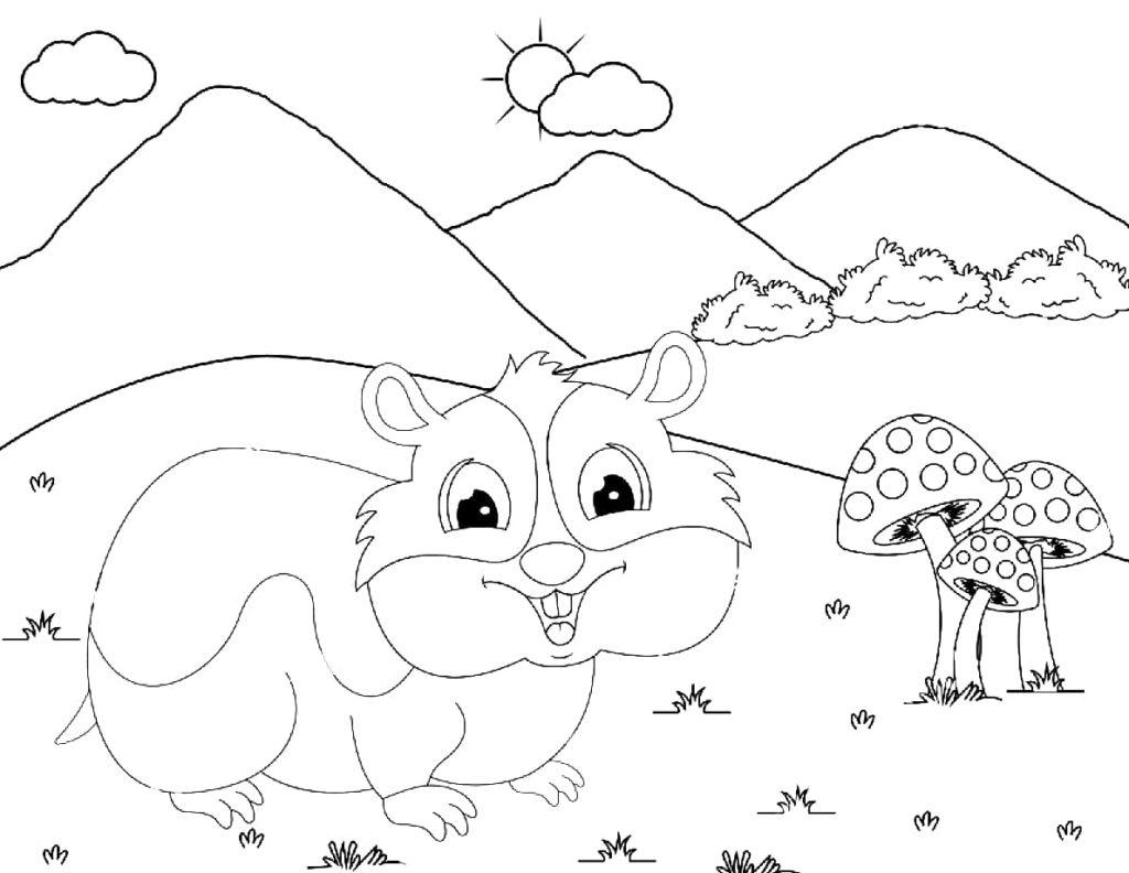 Ausmalbilder Hamster - 30 Malvorlagen zum Ausdrucken