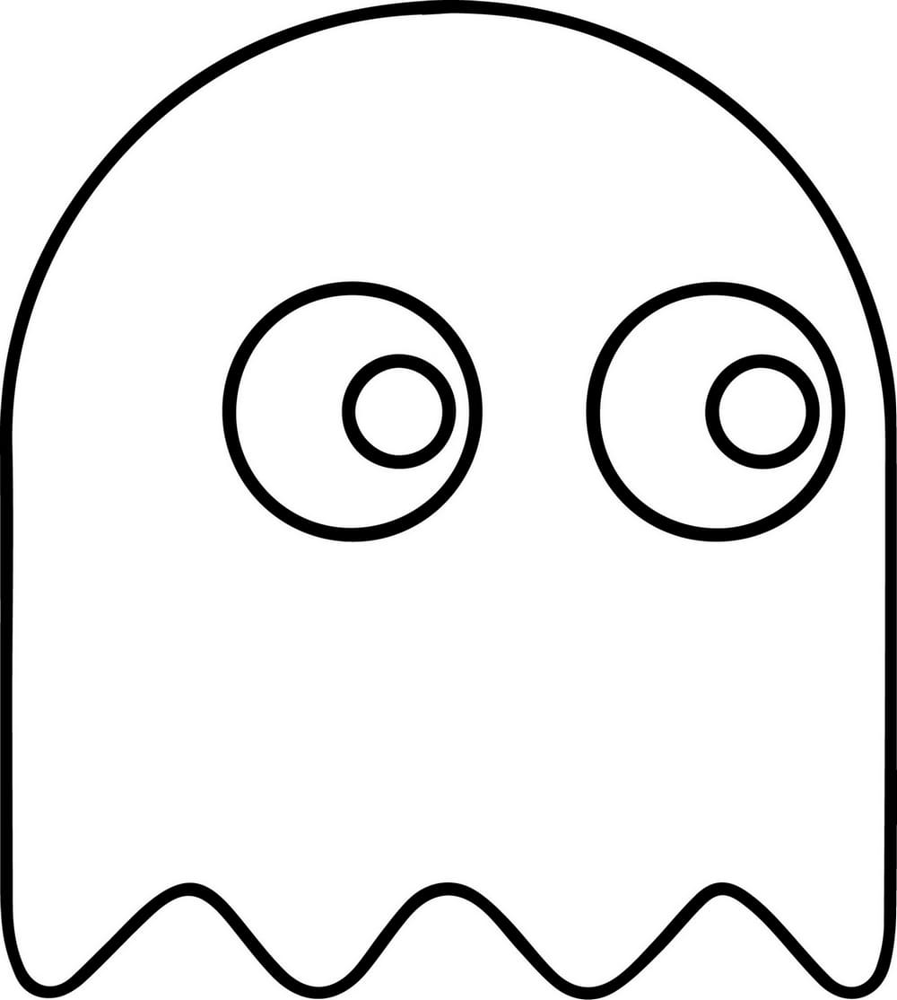 Pac Man Coloring Pages Best Printable Coloring Pages