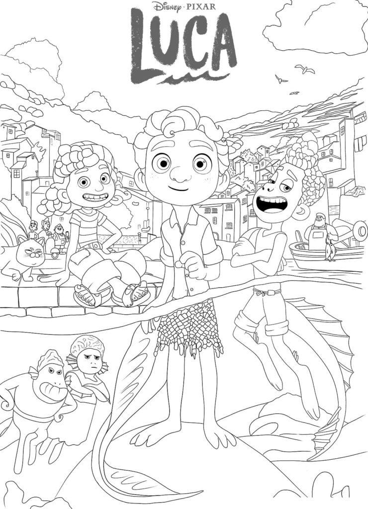 Desenhos de Luca para colorir