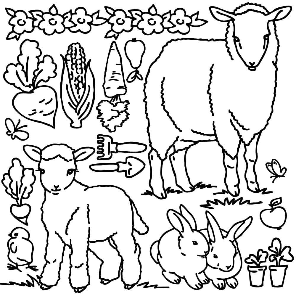 Ausmalbilder Bauernhoftiere